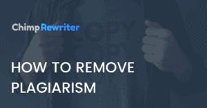 remove plagiarism
